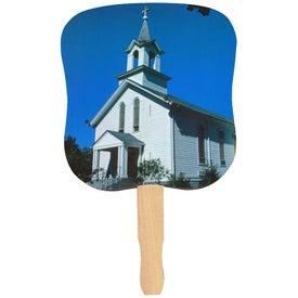 Logo White Church Hand Fan