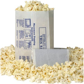White Popcorn Bag - No Imprint