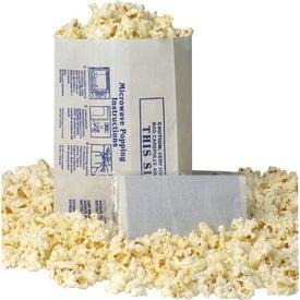 White Popcorn Bag - No Imprint