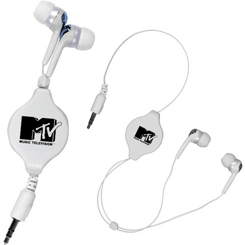 White Retractable Ear Buds