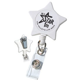 White Star Retractable with Alligator Clip