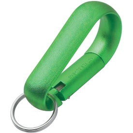 Wide Aluminum Carabiner With Key Ring for Marketing