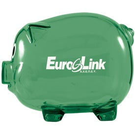Wilbur Piggy Bank with Coin Slot with Your Slogan
