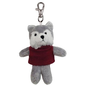 Wolf Plush Key Chain