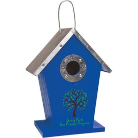 Wood Birdhouse with Your Logo