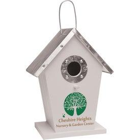 Monogrammed Wood Birdhouse