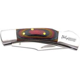 Branded Wood Handle Knife