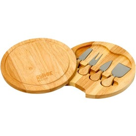 Wood Swivel Cheese Set