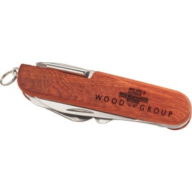 Advertising Wooden 13 Function Pocket Knife
