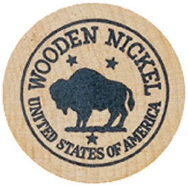 Wooden Nickel #2 Imprinted with Your Logo