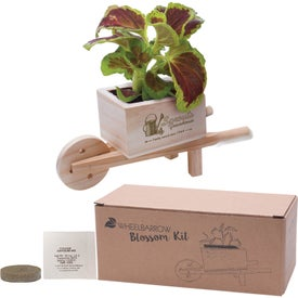 Wooden Wheel Barrow Blossom Kit