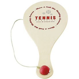 Wooden Paddle Ball Game