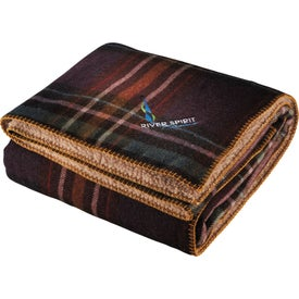 Woolrich Hickory Run Throw Imprinted with Your Logo