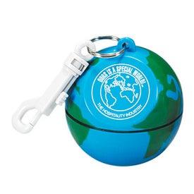 World Globe Design with Hook Clip