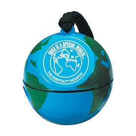 World Globe Design with Neck Rope (Unfilled)