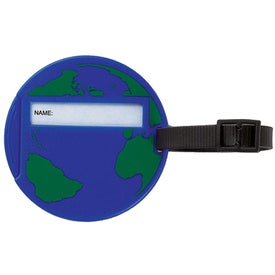 World Luggage Tag with Your Slogan