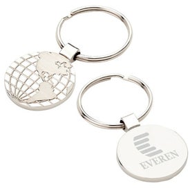 World Map Keyring