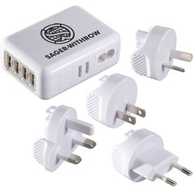 World Traveler 4 USB Port Universal Travel Adapter