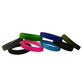 Awareness Color Filled Silicone Wristband Keychain with Your Logo