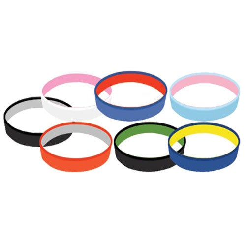 Awareness Dual Layer Silicone Wristband Keychain
