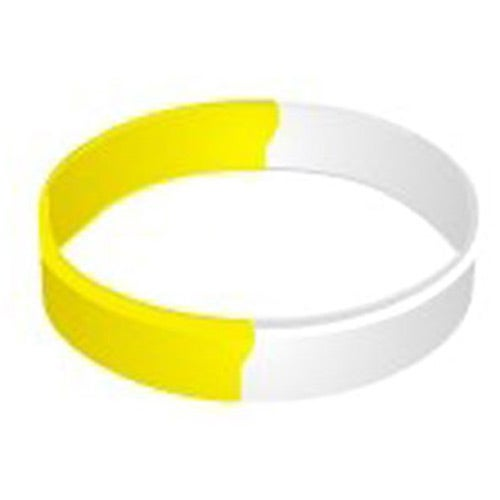 Awareness Color Filled Segmented Wristband Keychain