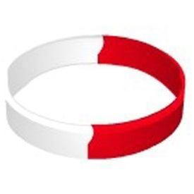 Printed Segmented Silicone Wristband Keychain Imprinted with Your Logo