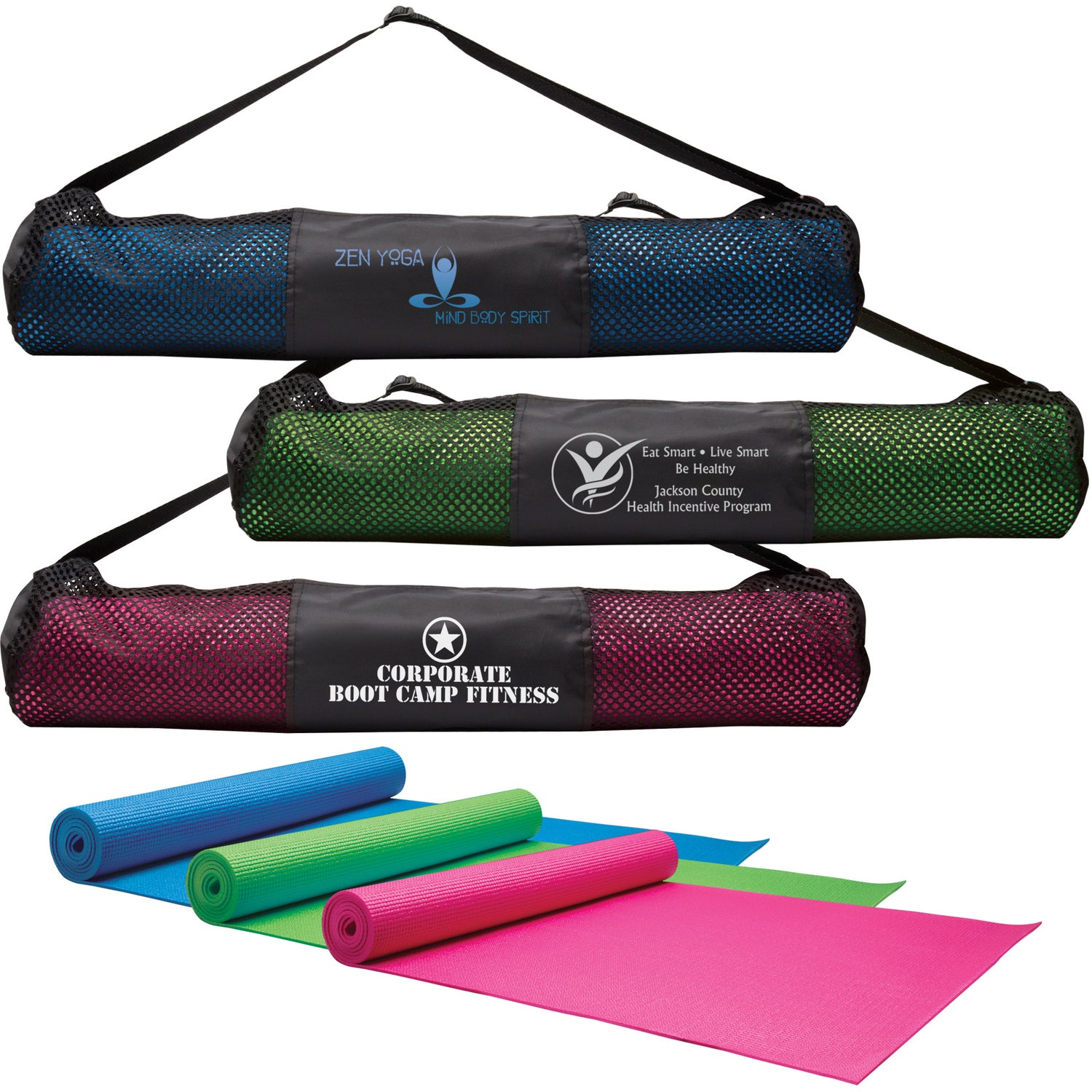 Yoga Fitness Mat and Carrying Case