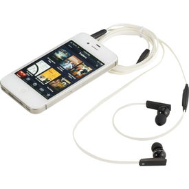 Zeus Ear Buds With Music Control Imprinted with Your Logo