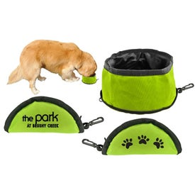 Zip-Close Doggie Bowl with Your Slogan