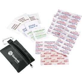 Zippered First Aid Pouch Branded with Your Logo