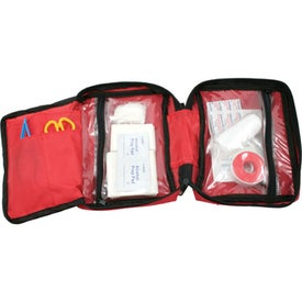 Monogrammed Zipper Pouch First Aid Kit