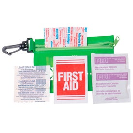 Zipper Tote with Clip Express First Aid Kit-No Meds