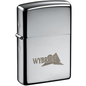 Zippo Windproof Lighter (Ink Imprint, Silver)