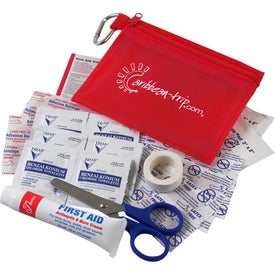 Zip Tote Medical Kit with Carabiner for Customization