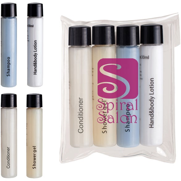Clear 4 Piece Travel Amenities Kit