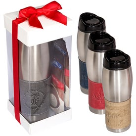 Casablanca Tumbler and Ghirardelli Cocoa Gift Set (16 Oz.)