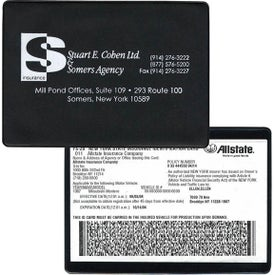 Copy Guard Vinyl Insurance Card Holder