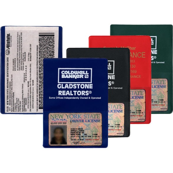 Printed Copy Guard Vinyl Insurance Card Holders with Extra ...