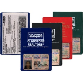 Copy Guard Vinyl Insurance Card Holder with Extra Pocket