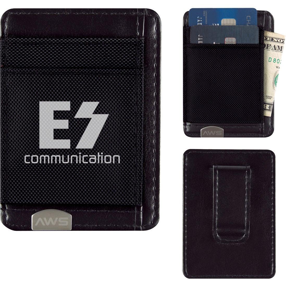black executive rfid money clip card holder branded - Money Clip Card Holder