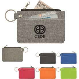 Heathered Card Wallets with Key Ring