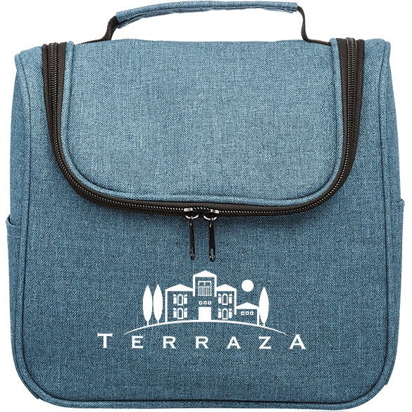 Blue Road Trip Heathered Toiletry Bag
