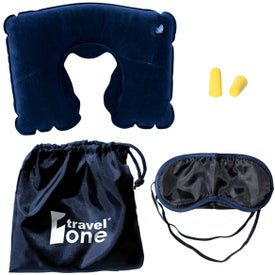 Travel Pillow Kit with Ear Plugs and Eye Mask