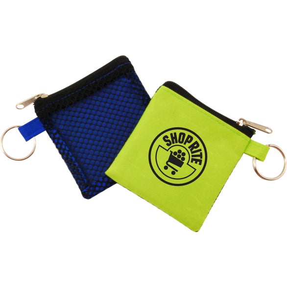 Lime Zippered Pouch with Keyring