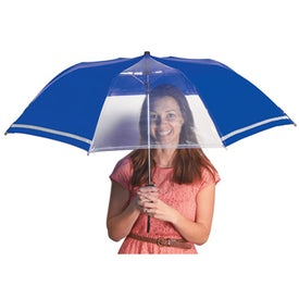 "Customized 44"" Arc Two-Tone Safety Umbrella"