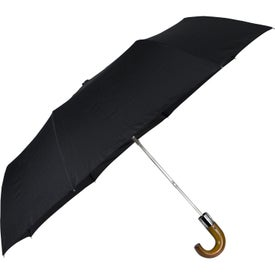 "44"" Auto Open Wooden Hook Umbrella"