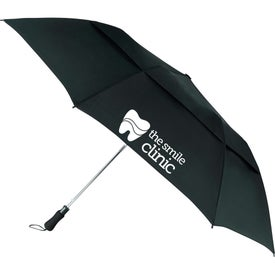 "55"" Vented Auto Open Folding Golf Umbrella"