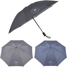 AOC Heathered Folding Inversion Umbrella