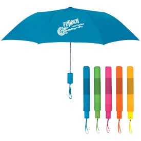 "Neon Telescopic Folding Umbrella (42"" Arc)"