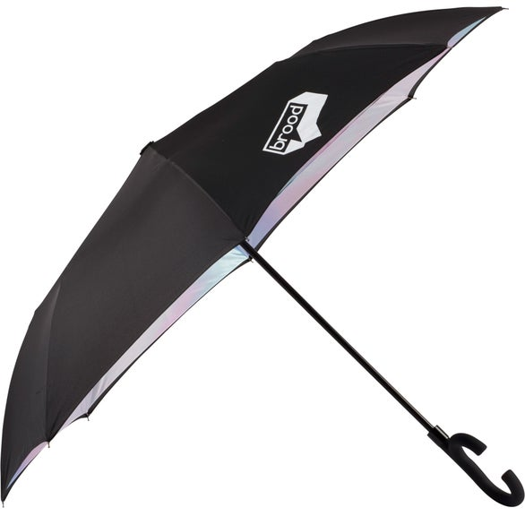 Black / Iridescent Auto Open Designer Inversion Umbrella